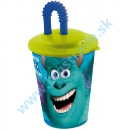 Monster University - pohár so slamkou