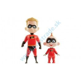 Incredibles 2 - figúrky Dash & Jack-Jack